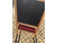 Kids easel blackboard and whiteboard
