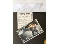 2 Thorpe park tickets valid any day until 09/10/16 £25