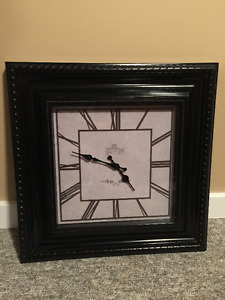 Black Framed clock