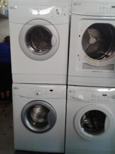 """set washer/dryer whirlpool front load 24"""""""