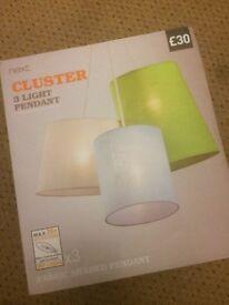 Next Cluster 3 Light Pendant BNIB