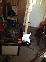 Squier bullet ( great beginners guitar) comes with amp