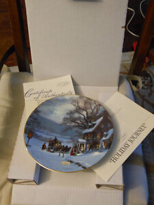 """Holiday Journey"" collector plate."