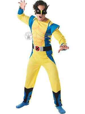 Adult Marvel Wolverine Outfit Fancy Dress Costume Halloween Superhero X Men