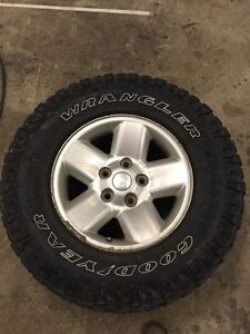 Ram 1500 wheels and tires 250$