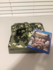 COD WWII 1tb PS4 comes with Game, controller and Cords