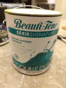 "Almost full gallon Beauti-tone ""apple green"" paint"