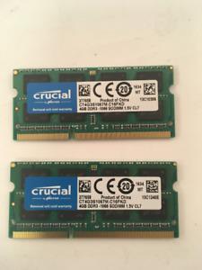 Crucial 2 x CT4G3S1067M.C16FKD 8GB RAM Kit