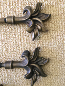 Bronze Curtain Rods and Tie Backs
