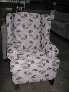 Super comfy wing back accent chair, MADE IN BC, over 200 fabrics