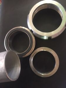 """NEW Stainless Steel Dairy Fitting -Adapter & 2' of 2""""SS Pipe Kingston Kingston Area image 1"""
