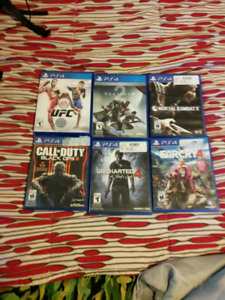 6 ps4 games for 120 dollars or $20 each