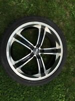 Set of 4 MSR rims with tires