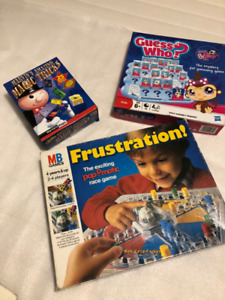 3 Games incl. Vintage Frustration (1986), Guess Who, Magic Trick