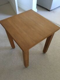 Small table in light solid wood