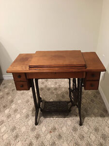 Circa 1900's Singer with Oak Cabinet
