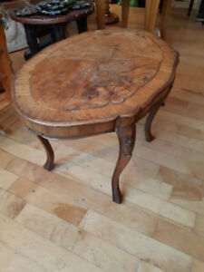 "Beautiful antique wooden table19"" tall and 27 by 19 "" wide"
