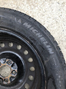 4 x Winter Tires on Rims -Michelin X-Ice Xi3 255/55 R17 Studless