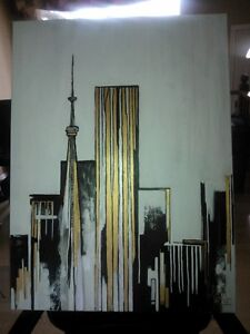 Nice city landscape painting from canadian artist/designer
