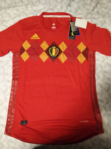 Belgium 2018 World Cup Home Soccer Jersey (player version)