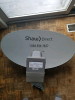 Shaw direct dish and one line install $125 plus tax