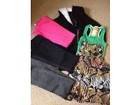 Size 6-8 clothing bundle - jeans/tops/fleecy hooded jackey
