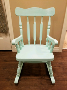 Sweet Mint Green Childrens Rocking Chair