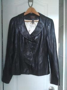 Danier Button Leather Jacket - Womens Size Medium