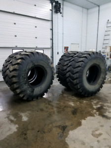 Set of 23.5-25 loader tires
