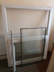 Used UPVC Double Glazed White Window Unit