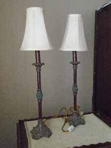 Matched Set Pedestal style table lamps London Ontario image 2