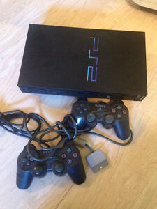 PS2 with accessories