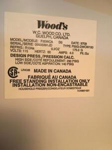 Wood upright Freezer
