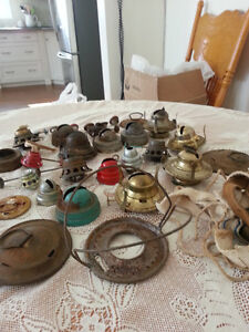Old Oil Lamp Parts
