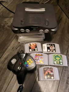 N64 with 1 controller and games