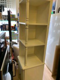 Large white corner storage unit
