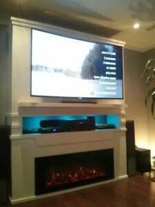 Multimedia Tower with optional fireplace