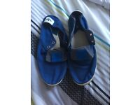 Adidas blue espadrilles style shoes
