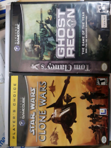 2 Game cube games, Ghost Recon & Clone Wars