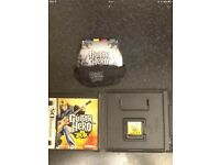 NINTENDO DS GUITAR HERO GAME AND GRIP