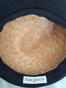 Eric Javits Luxury Fashion Designer Hat, Vintage Straw Hat