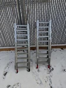 West Arched Bi-Fold Steel Ramps