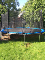 Trampoline 16' comme neuf