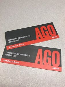 2 Tickets to the AGO