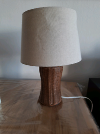Lamp with a beige shade