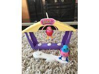 Digibirds pet birds with bird house play set