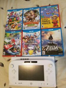 Nintendo Wii U + 6 Games