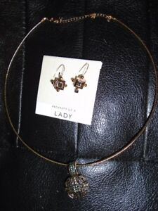 Marcasite Necklace and Earrings Set for sale