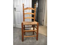 Wooden/wicker chair for sale