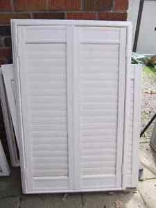 2 sets of california shutters with outside frames